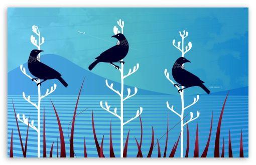 Tui Birds wallpaper