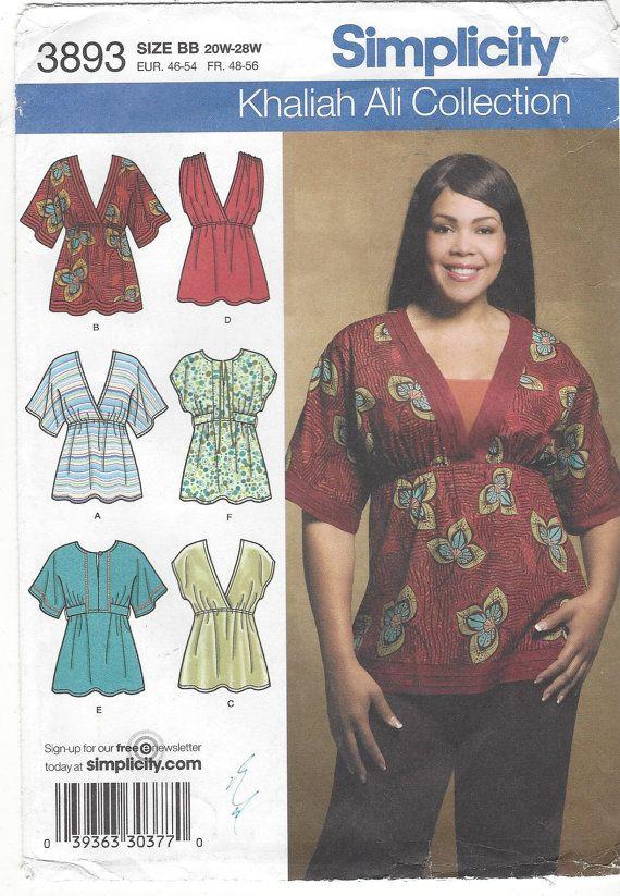 Ongevallen/Womens gebreide of geweven Top: Package contains patroon stukken en instructies om een verscheidenheid van tops met een rijk in de taille, mouw of mouwloos variaties te maken. Patroon afgedrukt in 2007 door eenvoud patronen en is in de fabriek plooien. Dit is een originele naaien patroon met alle originele stukken van de patroon en instructies. Dit is niet een PDF of kopie. Maat 20-22 - 24 - 26 - 28 Buste 42 tot 450 Taille 34 tot en met 44 Hip 44 tot en met 52 Voor meer naa...
