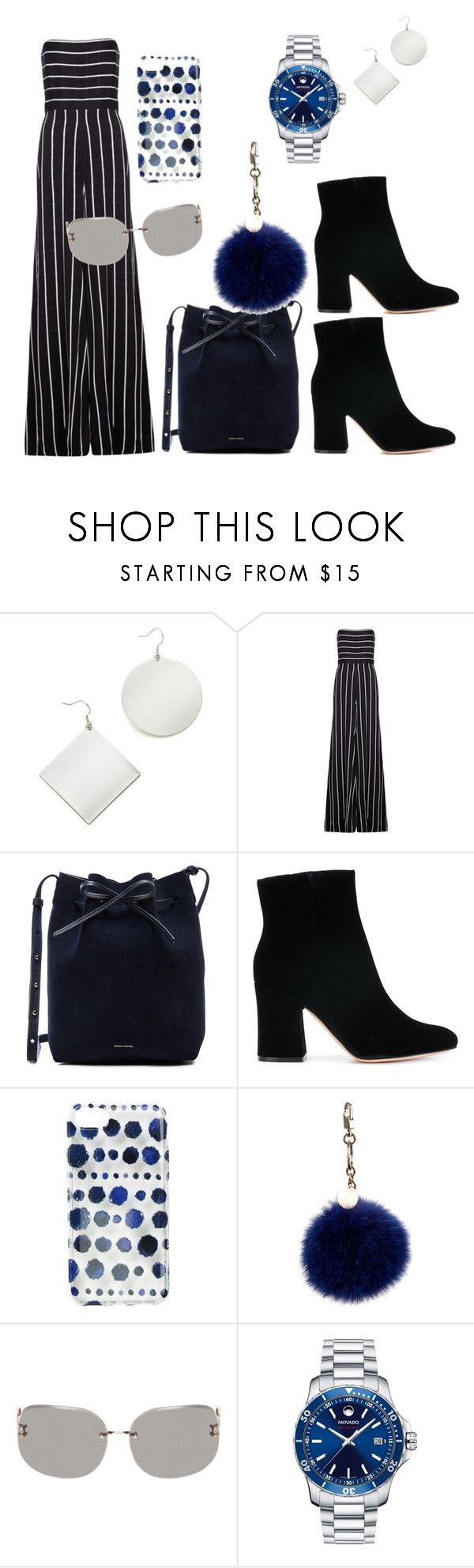 """Untitled #239"" by christiana-hickman on Polyvore featuring Kenneth Jay Lane, Safiyaa, Mansur Gavriel, Gianvito Rossi, Ankit, ESCADA, Linda Farrow and Movado"