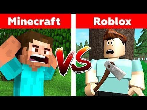Minecraft Vs Roblox Who Will Win Minecraft Or Roblox Animation