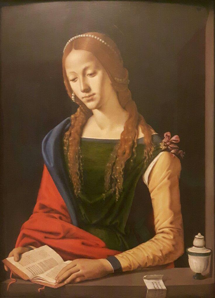 Magdalen  che legge. Palazzo Barberini. Influenza  Leonardesca. 1501-1502