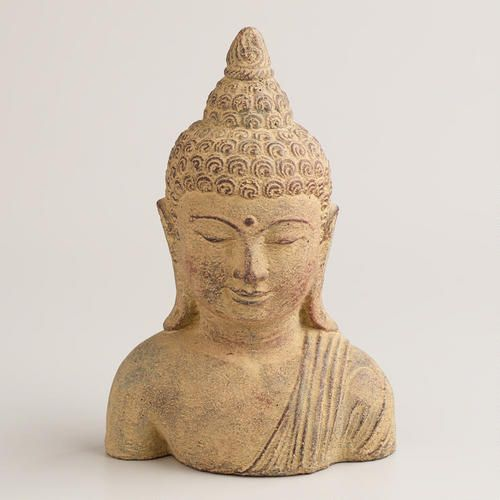 One of my favorite discoveries at WorldMarket.com: Small Stone Buddha Head