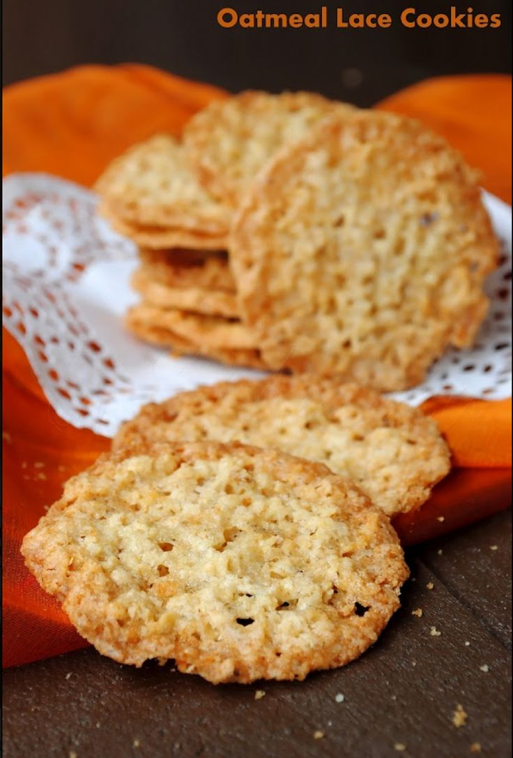 Oatmeal Lace Cookies | things i will make | Pinterest