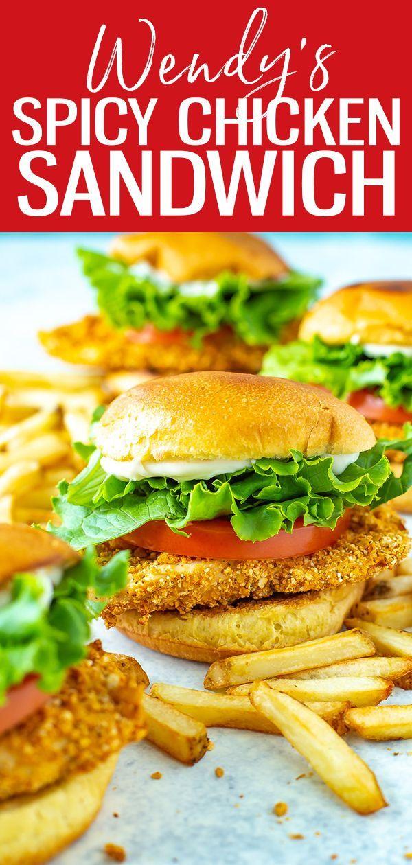Wendy S Spicy Chicken Sandwich Copycat The Girl On Bloor In 2020 Wendys Spicy Chicken Spicy Chicken Sandwiches Spicy Chicken