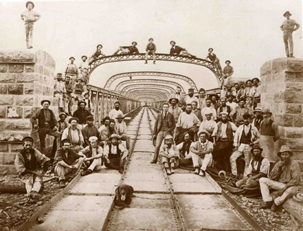 Murray bridge, South Australia. Original photograph in Institution of Civil Engineers Archive