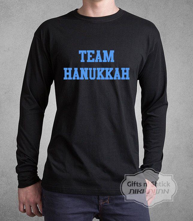 Hanukkah Shirt // Team Hanukkah - modern Jewish T-Shirt // Israel T-Shirt // חנוכה by GiftsNShtick on Etsy