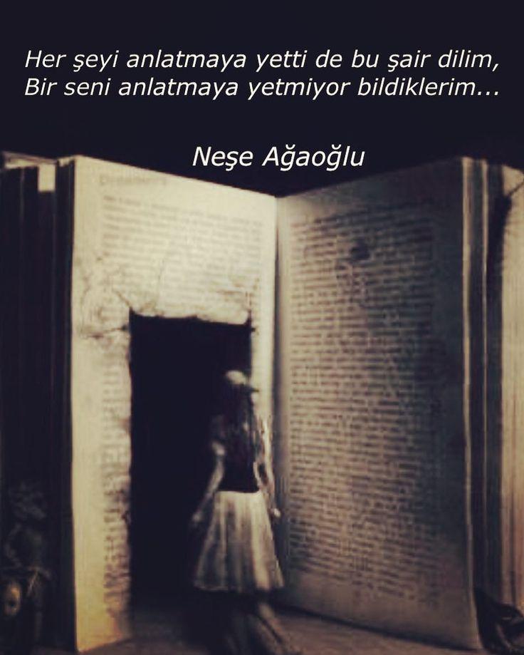 Her şeyi anlatmaya yetti de bu şair dilim,  Bir seni anlatmaya yetmiyor bildiklerim...   - Neşe Ağaoğlu  (Kaynak: Instagram - nese_agaoglu)  #sözler #anlamlısözler #güzelsözler #manalısözler #özlüsözler #alıntı #alıntılar #alıntıdır #alıntısözler #şiir #edebiyat