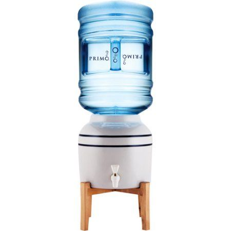 Primo Ceramic Crock Water Dispenser with Wooden Stand - Walmart.com