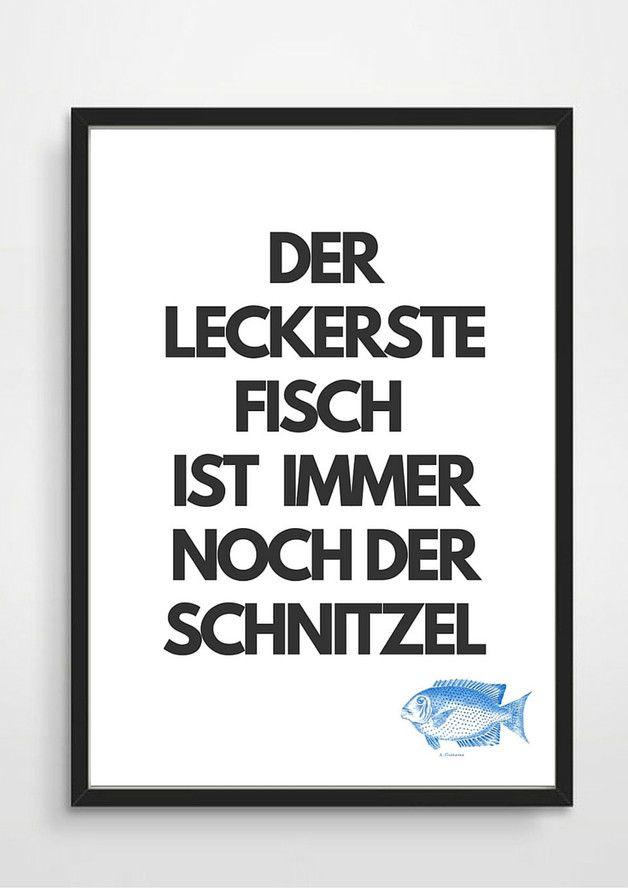 Lustiger Spruch für die Wohndeko / art print for home decoration by rheinstück via DaWanda.com