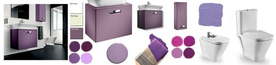 Roca The Gap Bathroom, from UK Bathrooms. www.ukbathrooms.com #Purple #Bathrooms #Lilac #Grape #Roca
