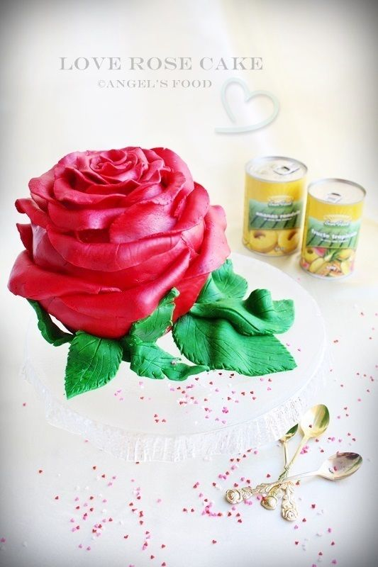Angel's food: Love...Rose Cake~Iubire...Tort Trandafir