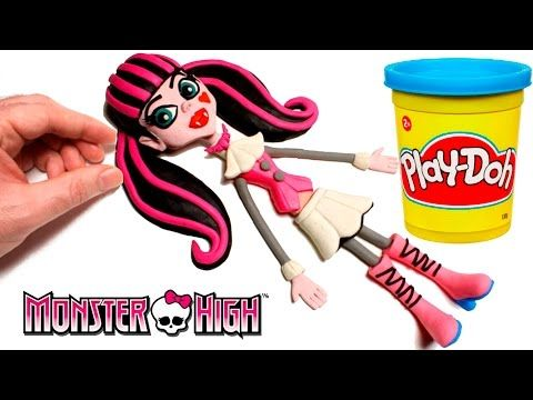 Frozen vs Monster High | How to get attention Elsa vs Draculaura STOP MOTION Play Doh - YouTube
