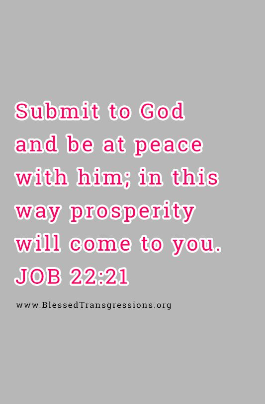 Submit and be at peace,