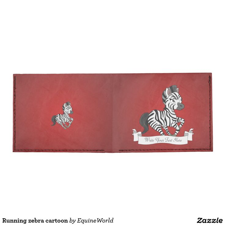 Running zebra cartoon tyvek wallet