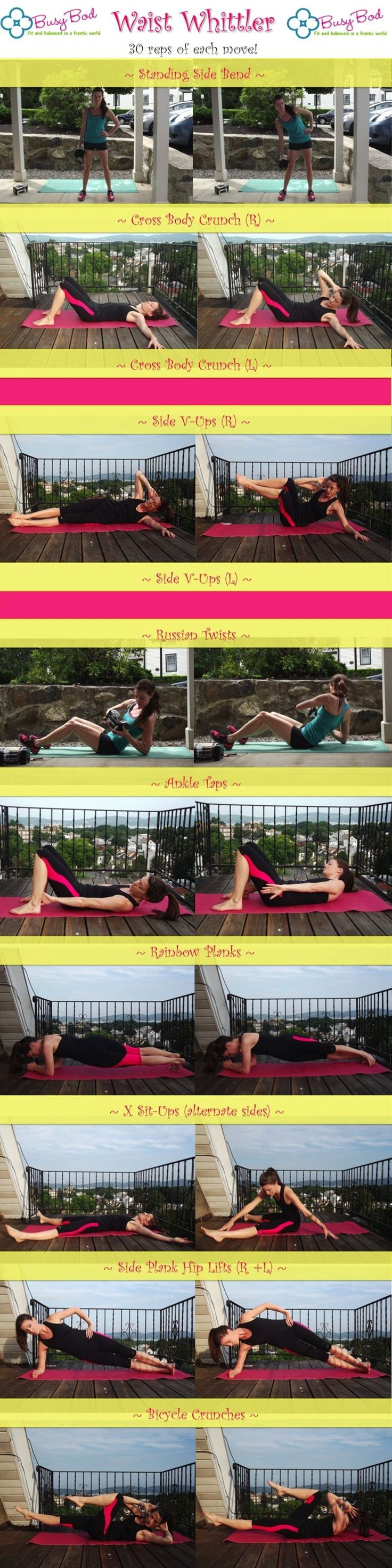 10 minute obliques workout from the July Abs Challenge! Really burns your abs and cinches in your waist.