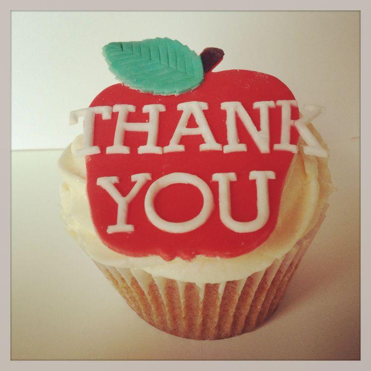 Thank you teacher cupcakes £3.50 for a single cupcake