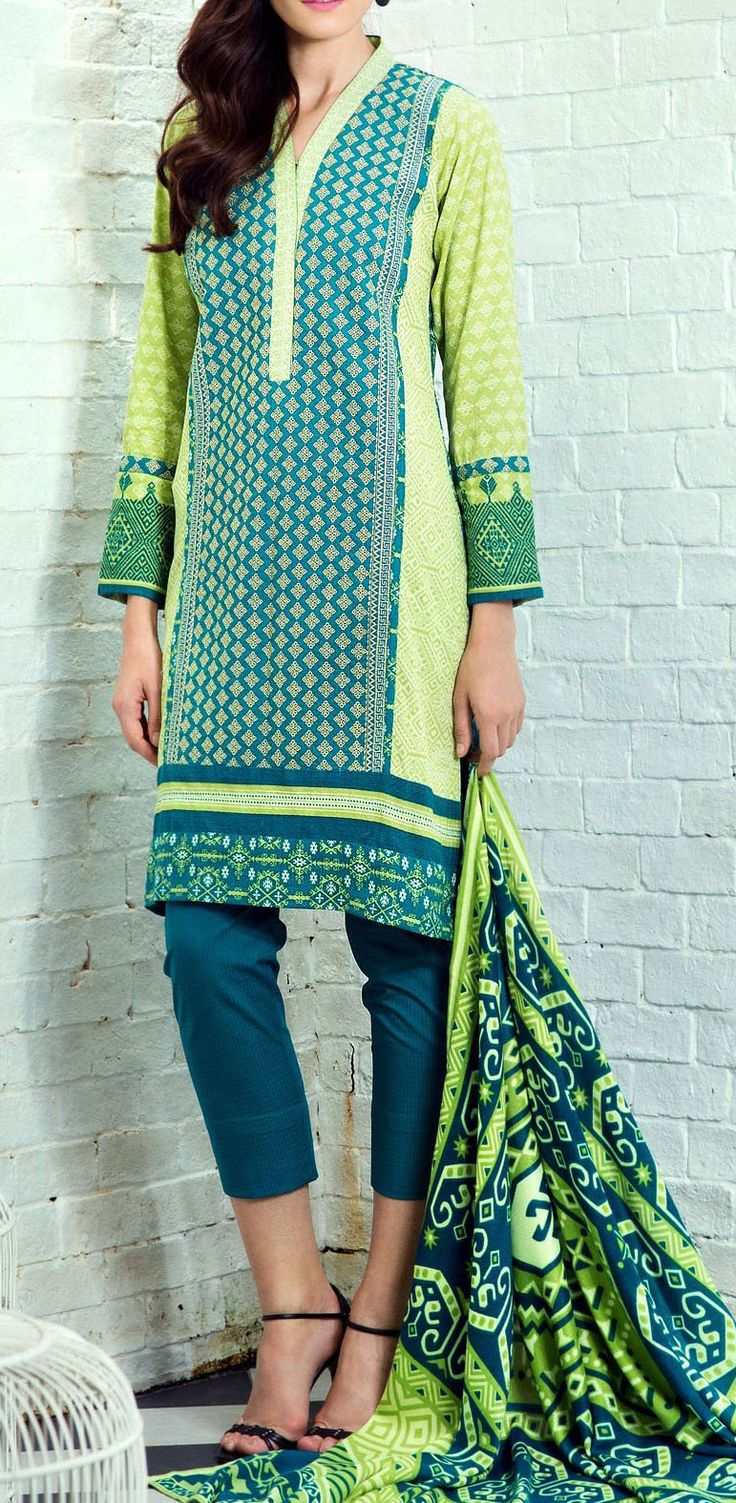 Buy Teal/Light Green Embroidered Dobby Salwar Kameez (2pc) by Bonanza 2015 Email: Info@PakRobe.com www.pakrobe.com https://www.pakrobe.com/Women/Clothing/Buy-Winter-Salwar-Kameez-Online #Winter_Salwar_kameez
