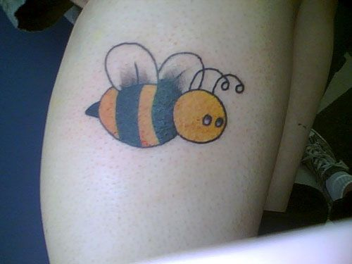 Adorable Bumble Bee Tattoo