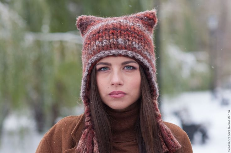 """Купить модная шапка с ушками """"Owl"""""""" - счастливая шапка - шапка с ушками, шапка с ушами"""
