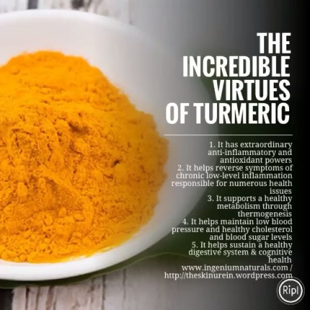 Turmeric all-natural supplement