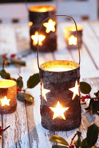 Birch Bark Lanterns