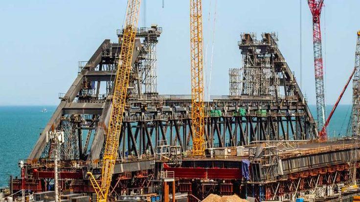 Керченский мост сегодня 05.05.2017. Строительство моста Путина май