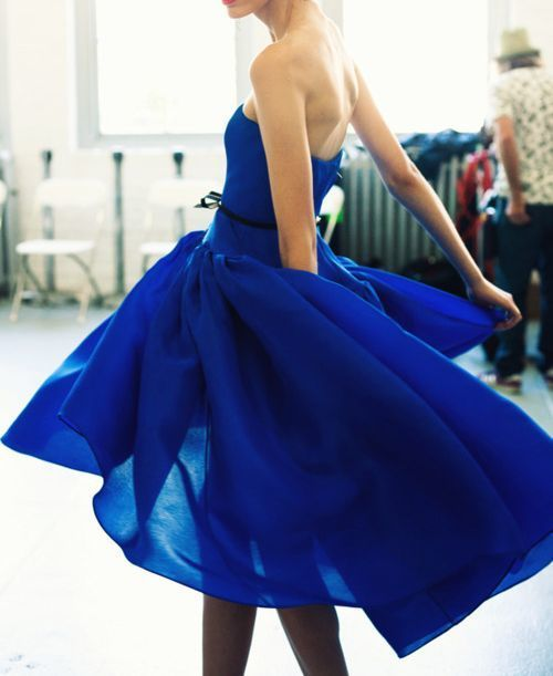 Ballerina back and blue dress when we have perfect bodies, we can play dress up ;)