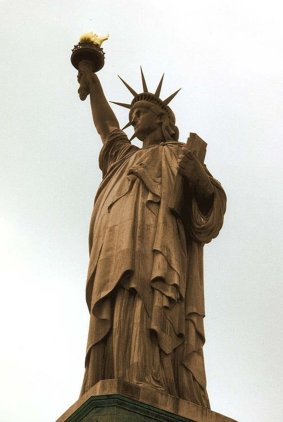 Photo Of The Statue Of Liberty Before Her Copper Oxidized Into The Iconic Green Patina Statue Of Liberty Statue Liberty