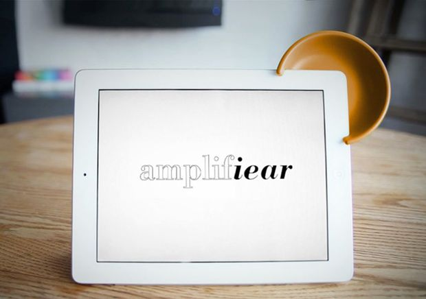 Amplifiear - Designed to easily boost the audio on your iPad.: Apples Ipad, Amplifiear, Projects, Studios, Techgadget, The Hobbit, Speakers, Mickey Mouse Ears, Tech Gadgets