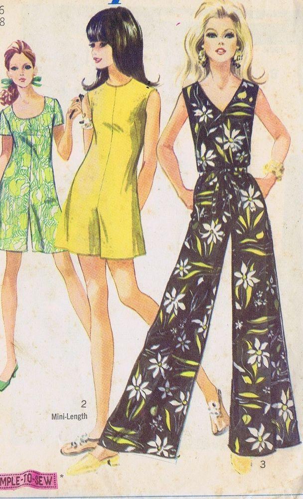 """PANT DRESS VINTAGE SEWING PATTERN 8146 SIMPLICITY SIZE 16 BUST 36 HIP 40"""" UNCUT"""