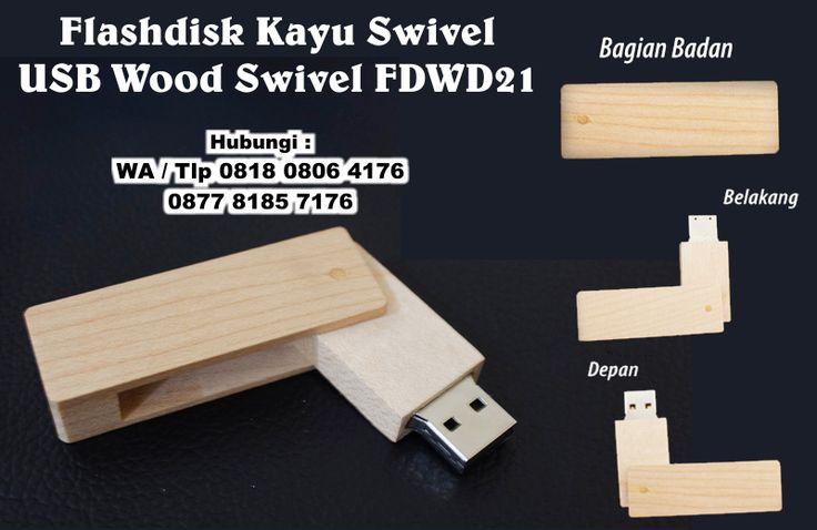 Jual Flashdisk Kayu Swivel  - USB Wood Swivel FDWD21