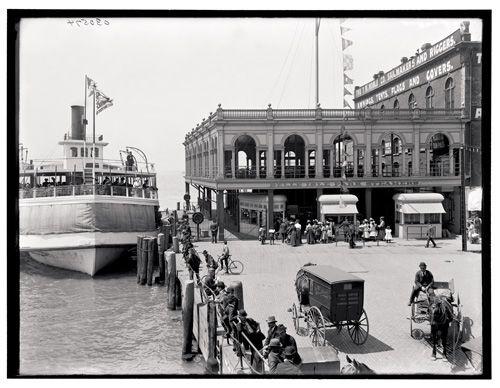 Belle Isle Ferry Dock: Ferris Dock, Detroit Circa, Circa 1906, Isle Ferris, Belle Isle, 1906 Belle, Detroit Vintage, Ferry Dock, Noble Rigger