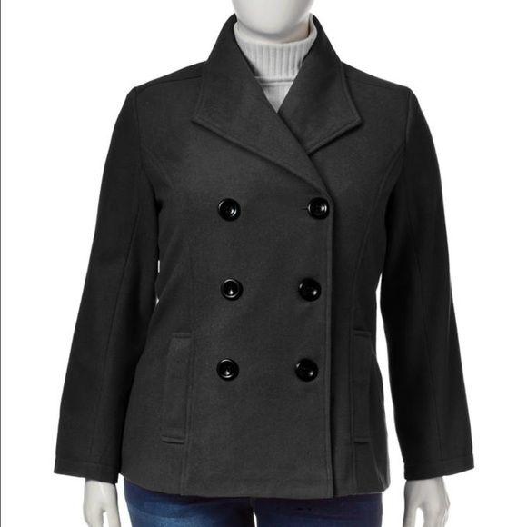 Charcoal grey juniors plus size peacoat NWT charcoal grey juniors plus size peacoat. True to size. Rampage Jackets & Coats Pea Coats