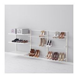 smart storage for a walk in closet | IKEA - ALGOT, Wall upright/shelves/shoe organizer