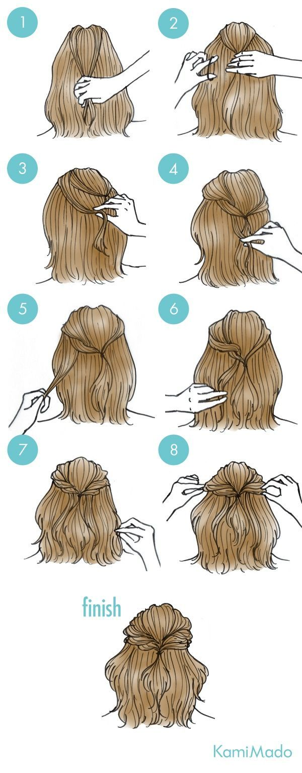 Easy Hair Ideas For School: Рисованные прически Kami Mado 2 (трафик diy) / Прич