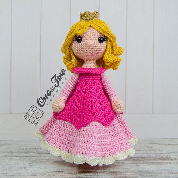 Princess Rose Lovey / Security Blanket - PDF Crochet Pattern - Instant Download - Blankie Baby Blanket