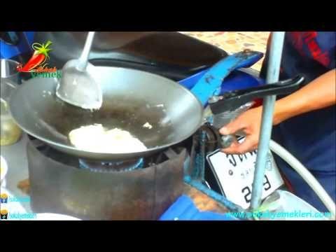Tayland Sokak Yemeği - Tavuklu Sebzeli Yumurtalı Noodle - YouTube