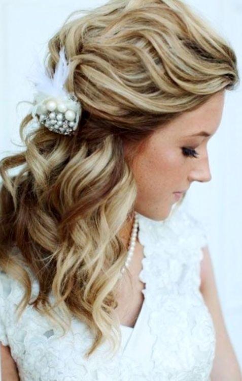 Bride's half up long bridal hair Toni Kami Wedding Hairstyles ♥ ❷ Wedding hairstyle ideas