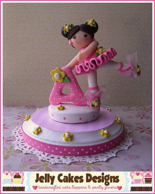 Birthday Ballerina cake topper by Jelly Cakes Designs, via Flickr