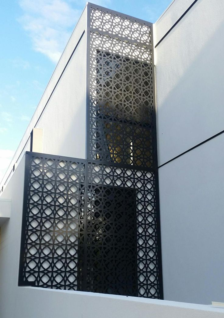 Laser cut decorative screen manufactured by QAQ Decorative Screens & Panels, Melbourne, VIC. This is the 'Valencia' design.