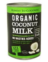 honest to goodness organic coconut milk
