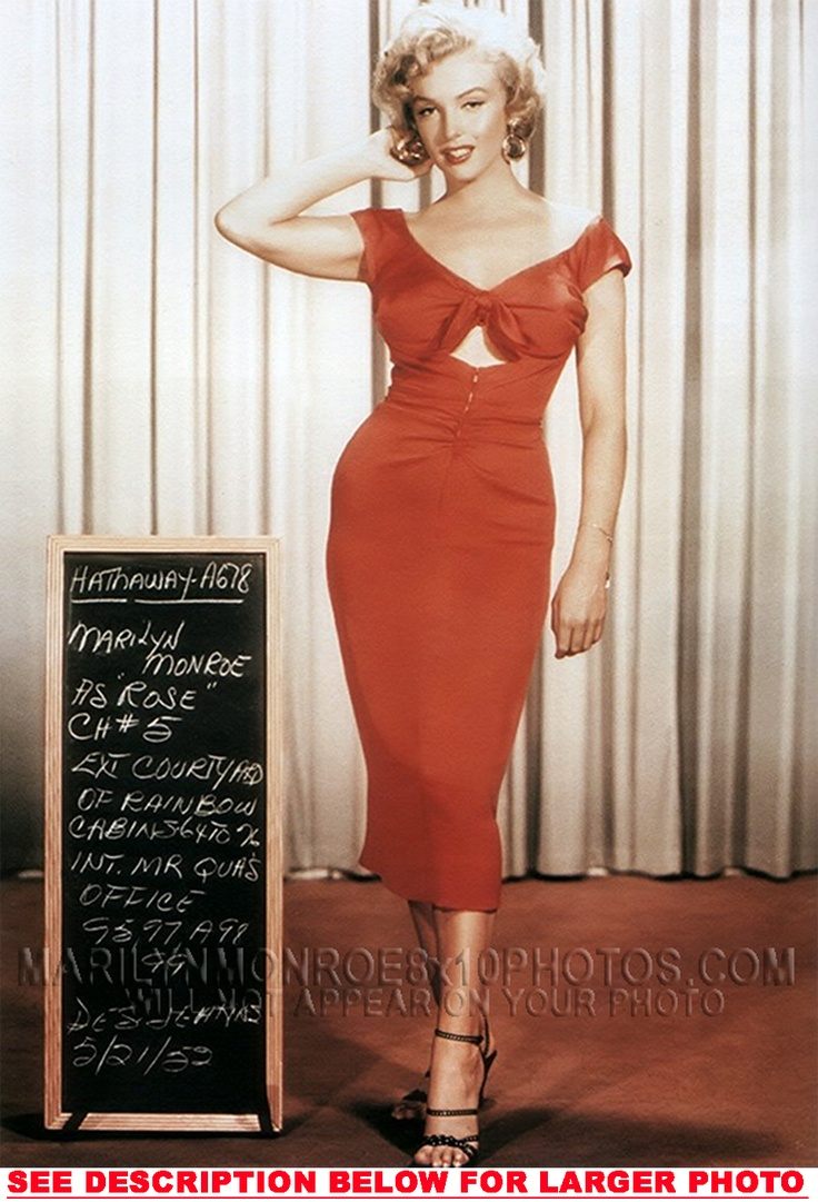MARILYN MONROE MOVIE WARDROBEWiggle Dress, Dresses Pattern, Fashion, Red, Motivation Pictures, Marilyn Monroe Quotes, Marilynmonroe, 1950, Weights Loss