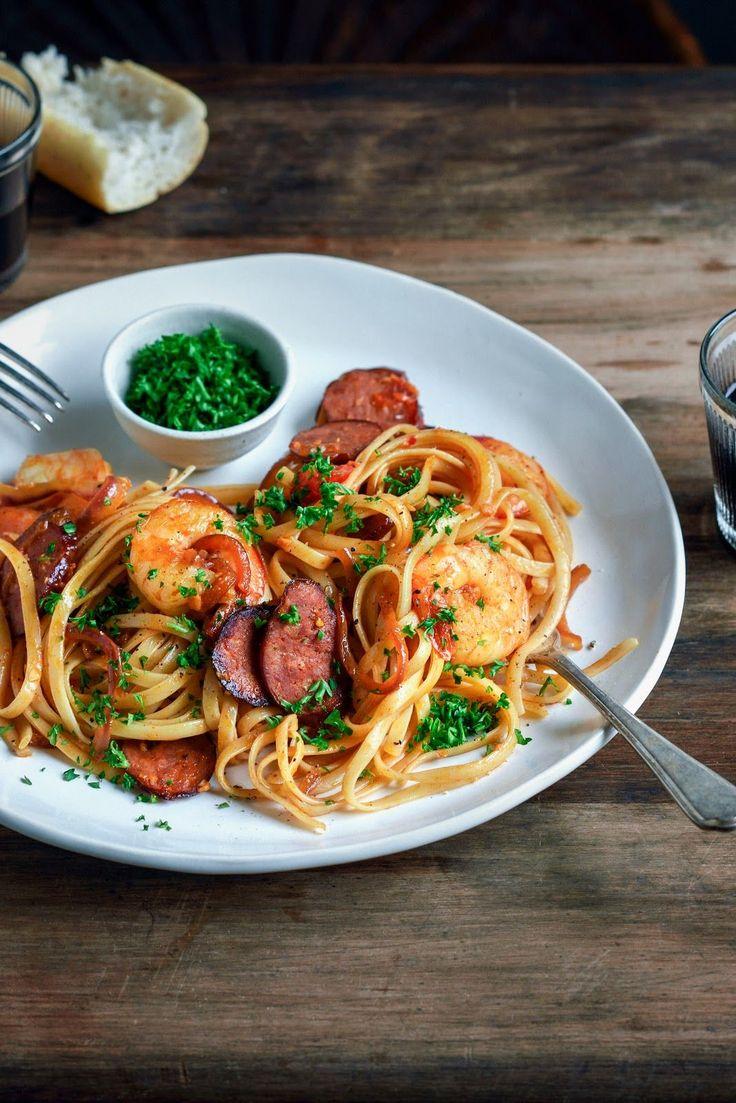 Chorizo, Prawn & Chilli Pasta