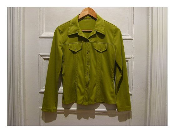 90s lime green shirt blouse  retro vintage hipster by EcoCentrik #vintage shirt #vintage blouse#lime green shirt #polyester shirt www.etsy.com/shop/ecocentrik
