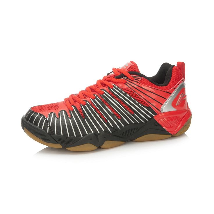 Li-Ning Multi Accelerate TD Mens Badminton Training Shoes - Black/Red   2016…