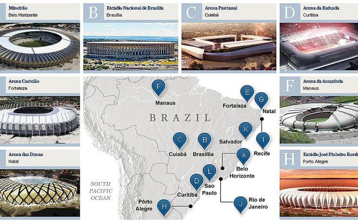World Cup stadiums: a venue guide for Brazil 2014 > http://www.telegraph.co.uk/sport/football/world-cup/10383648/World-Cup-stadiums-a-venue-guide-for-Brazil-2014.html