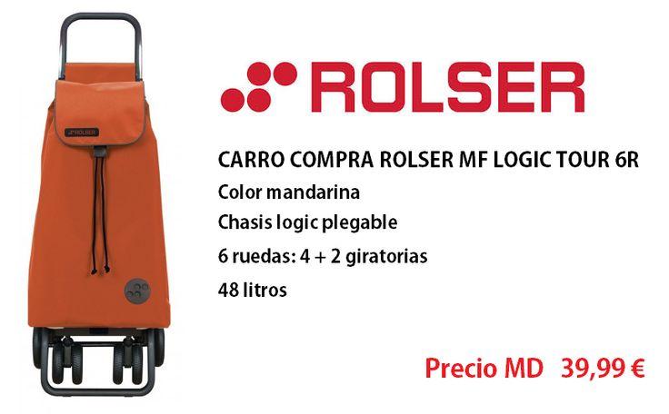 Con los carros ROLSER tendrás ganas de salir a la calle! Carro MF LOGIC TOUR 6R MANDARINA http://www.materialdirecto.es/es/carros/69544-rolser-carro-mf-logic-tour-6r-mandarina.html
