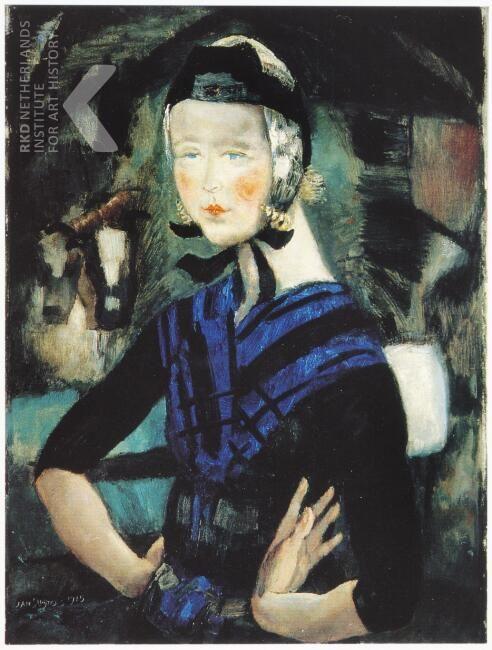 Jan Sluijters, Vrouw uit Staphorst, 1915 https://rkd.nl/explore/images/100521