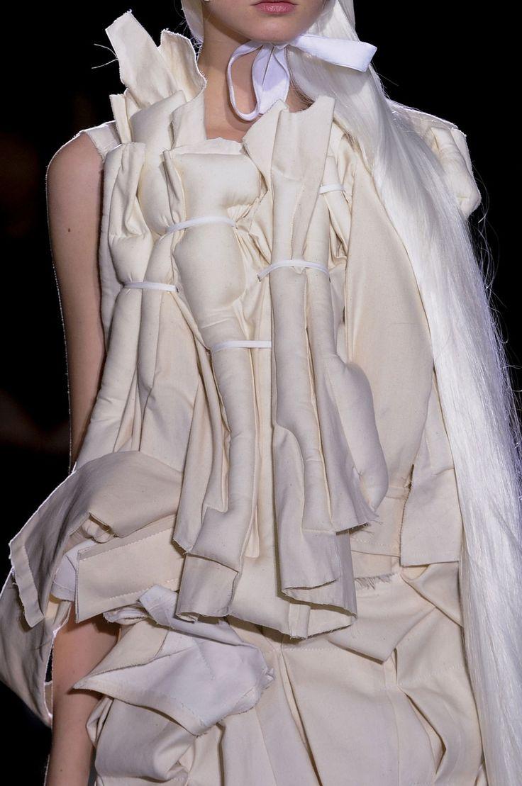 Padded fashion structures; sculptural, textured fashion // Comme des Garçons SS13