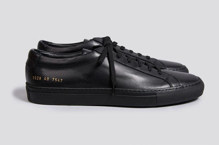 Common Projects Original Achilles Low Deep Black Sneakers – Silver Deer Online Store